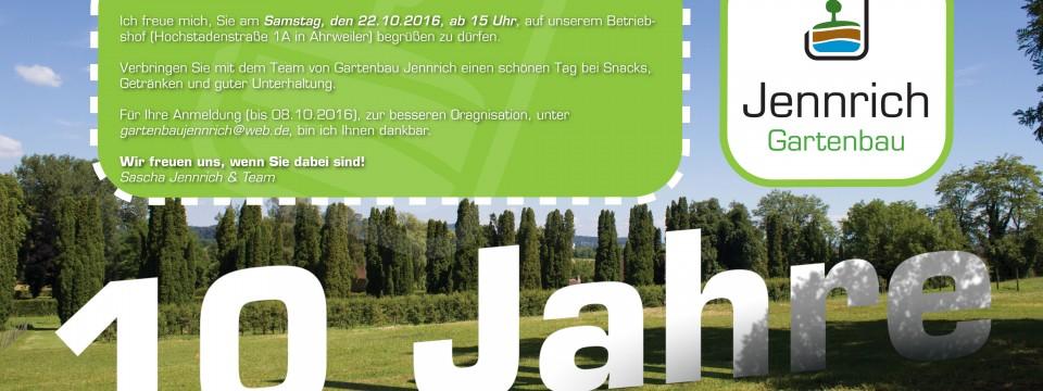 10 Jahre Gartenbau Jennrich